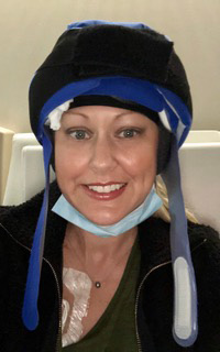 Lindsay during treatment